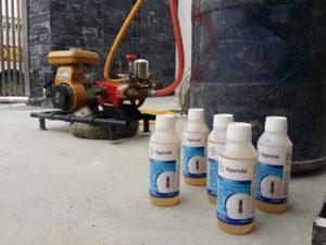 liquid termiticide treatment
